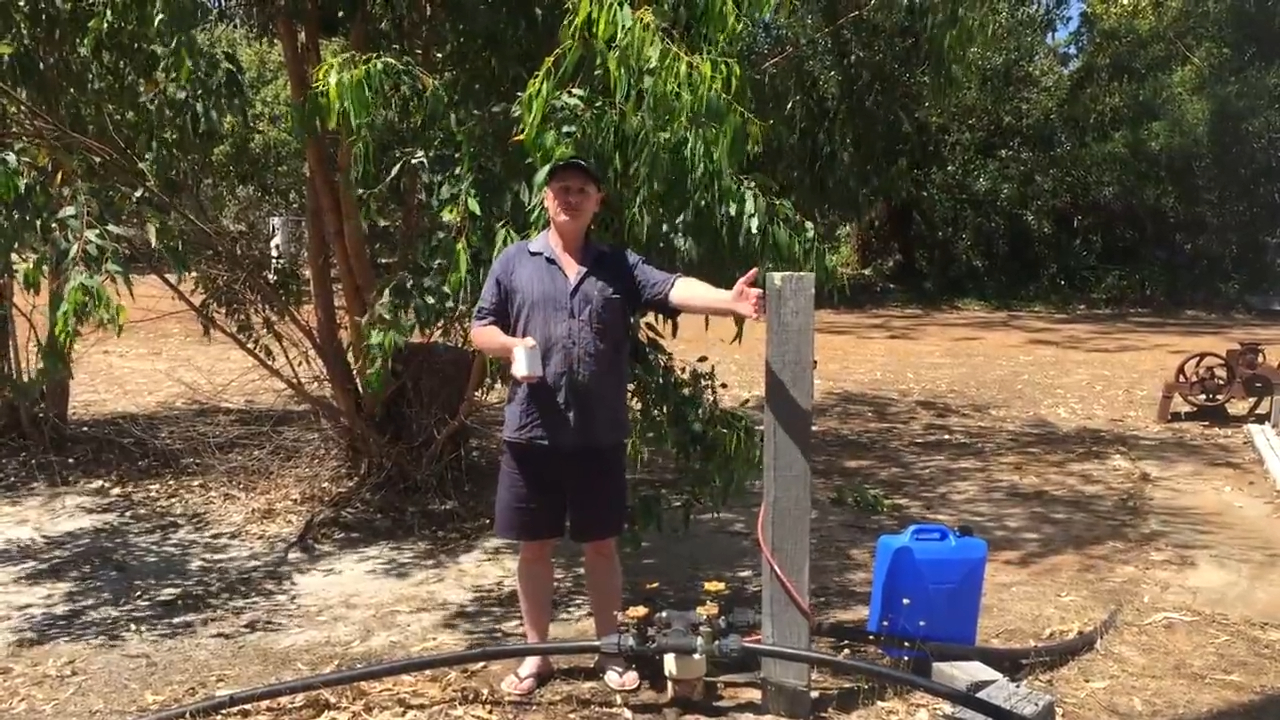 Rod's at a Bore doing Bore Water Testing